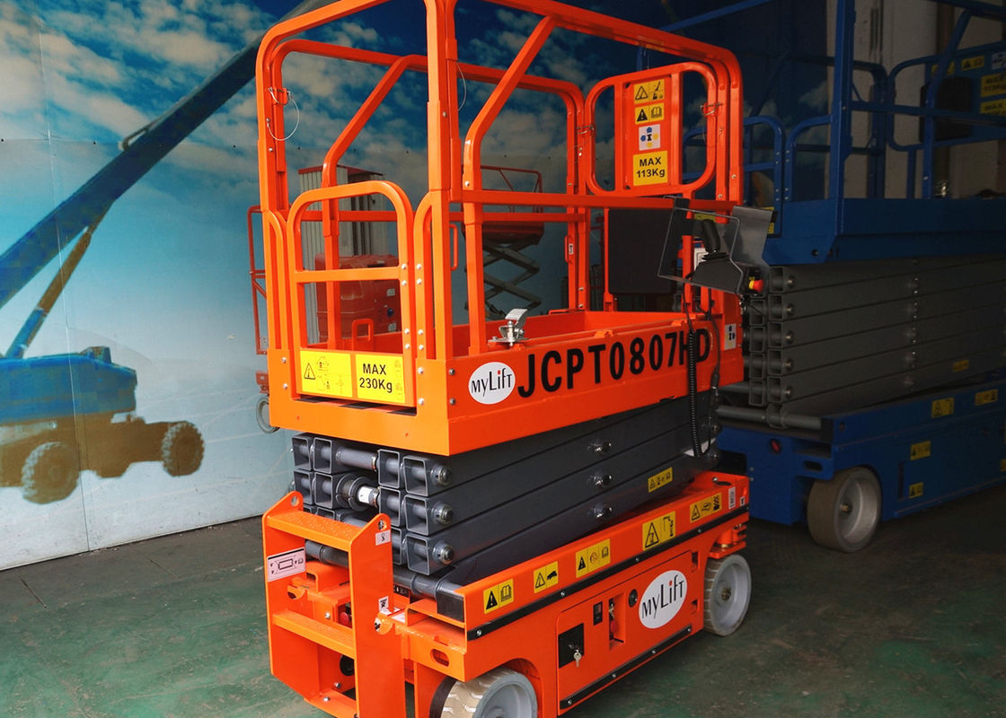 Hydraulic Drive Self Propelled Aerial Work Platform Lift Height 6m Scissor Type