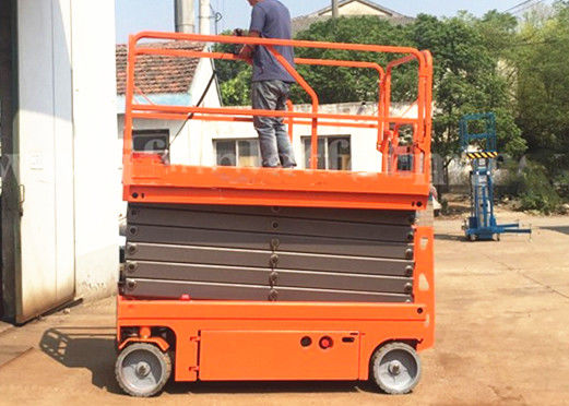 Spacious Mobile Elevated Platform Electric Scissor Lift Extended Platform
